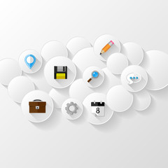 Abstract background.  Cloud storage concept.  Flat design