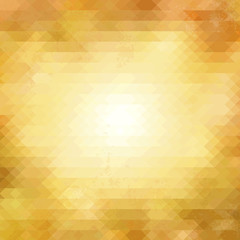 背景 モザイク ポリゴン 多角形 Golden orange abstract background