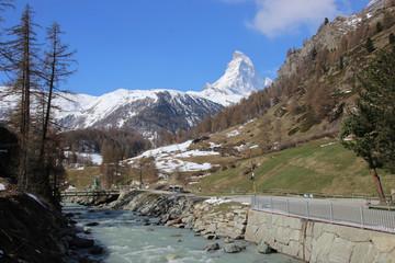 Matterhorn from Swiss town Zermatt