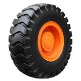Orange tractor wheel - 65069816