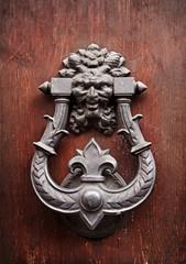 Old knocker on a door