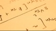 Close up of a mathematicalcontent background
