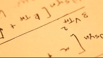 Close up of a mathematical content background