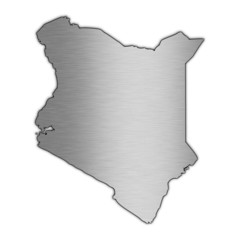High detailed vector map - Kenya.