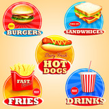 Fototapety stickers for fast food