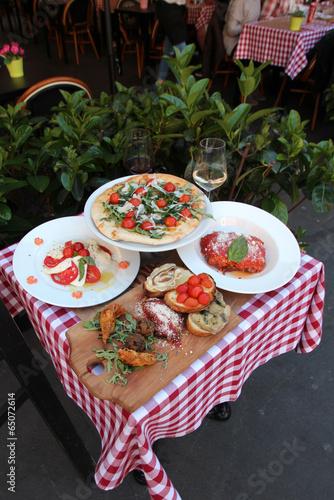 In de dag Buffet, Bar Italie - Menu touristique