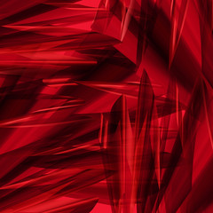 Angular red abstract