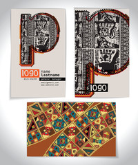 Ancient Business card design LETTER p