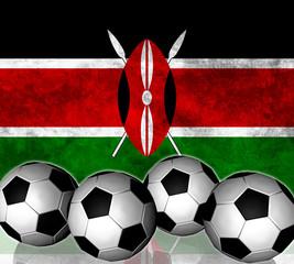 Footballs on top of flag - Kenya