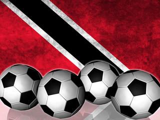 Footballs on top of flag - Triniad and Tobago