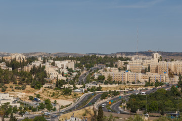 young area of ​​the city of Jerusalem