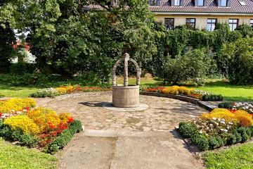 Paul-Friedrich-Brunnen an der Luthereiche in Wittenberg