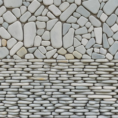 texture of pebble stones wall