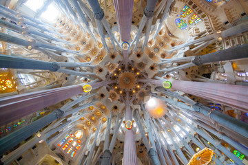 Sagrada Familia, interior view