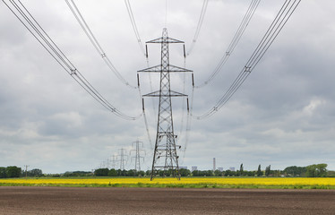 An Electricity Pylon in an English Rural Landscape