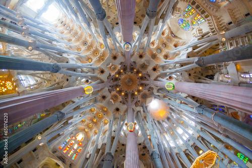 Sagrada Familia, interior view - 65076220