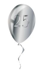 Silver Anniversary Balloon