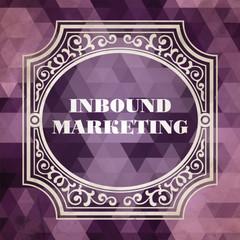 Inbound Marketing Concept. Purple Vintage design.