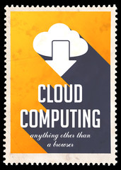 Cloud Computing on Yellow in Flat Design.