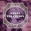 Legal Education Concept. Purple Vintage design. - 65078216