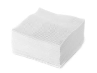 White Square Bar Napkin Isolated