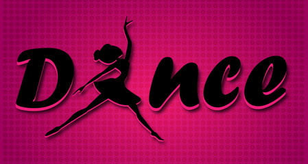 Dance logo text