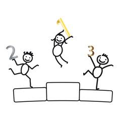 Siegerehrung - fröhliche Kinder beim Sport