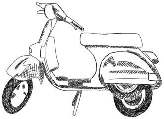 Motorroller Roller Motorrad Mofa Moped Italien