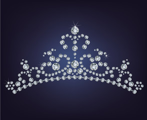Tiara crown women's wedding made from diamonds