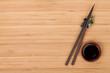 Sushi chopsticks and soy sauce bowl
