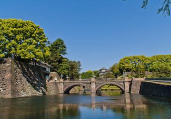 江戸城の伏見櫓と石橋
