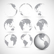 Set of globe icons vector illustration - 65081495