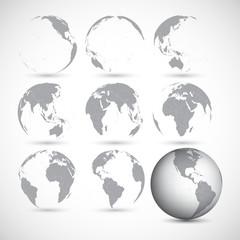 Set of globe icons vector illustration