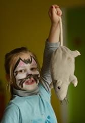 Beautiful Cat Face Painting