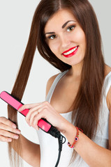 Hairdressing. Hair Straightening Irons