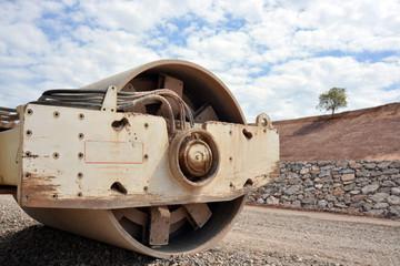 maquina apisonadora para construccion de carreteras