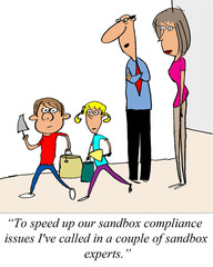 ...called in a couple of experts (for sandbox compliance)