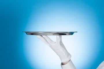 Waiter Carrying Empty Tray
