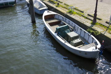 Boat at the canal, Amsterdam