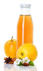 apple juice in a bottle