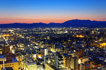 Kyoto City night in Japan