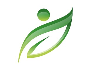 logo icon symbol leaf nature health people active energy life