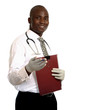 attractive young doctor with folder
