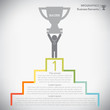 Step to success infographics, vector eps10
