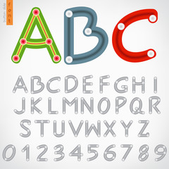 Alphabet set of button slide, vector eps10