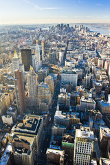 view of Manhattan from The Empire State Building, New York City,