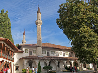 Bakhchisarai. View of the Big hansky mosque