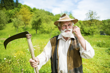 Man with scythe