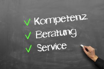 Kompetenz, Beratung, Service