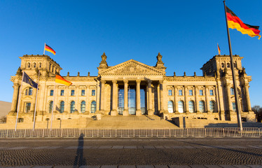 The famous Reichstag in Berlin, Germnay